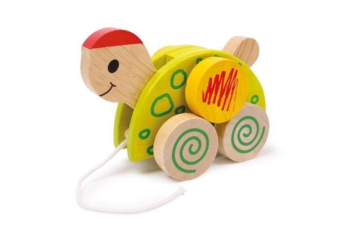 Lumaca animale da trainare  in legno Gioco x bambino/bambina