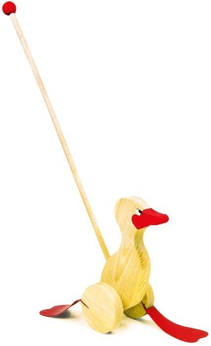 papera barcollante animale legno da spingere Gioco x bambino/bambina