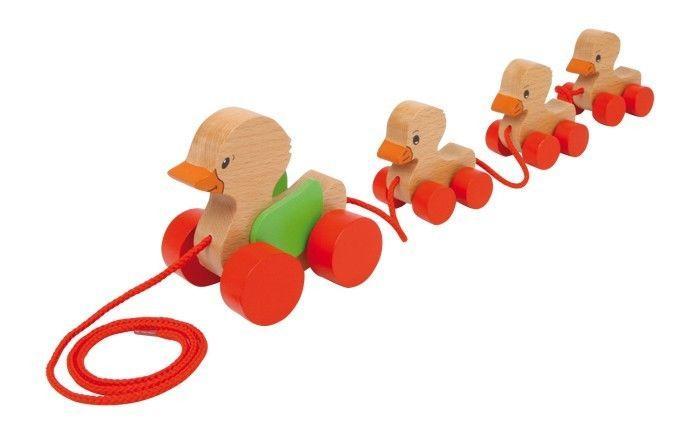 Animali da trainare Famiglia anatre in legno Gioco x bambino/bambina
