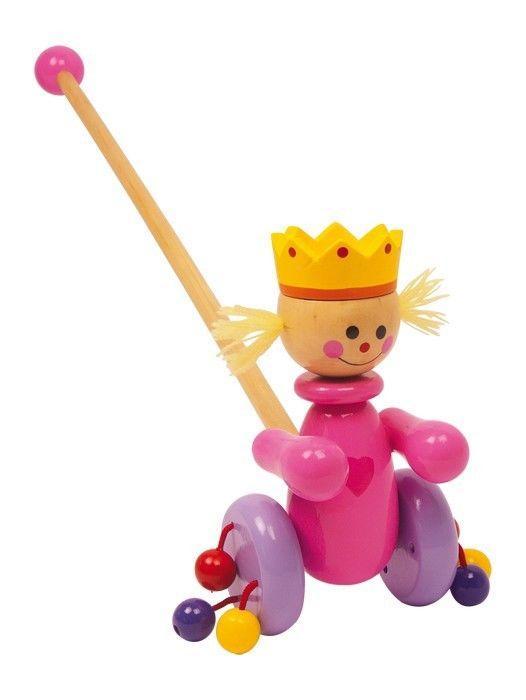 Regina da spingere in legno Gioco x bambino/bambina