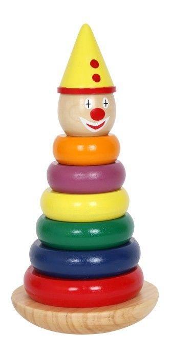 Torre traballante Clown Gioco in legno x bambini