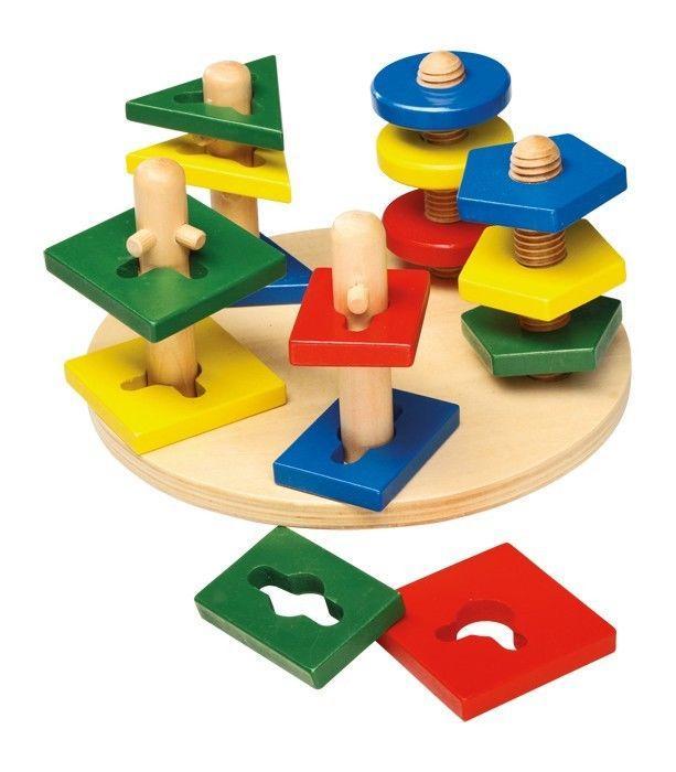 Torre/Puzzle aiuto attività motoria in legno Gioco x bambini