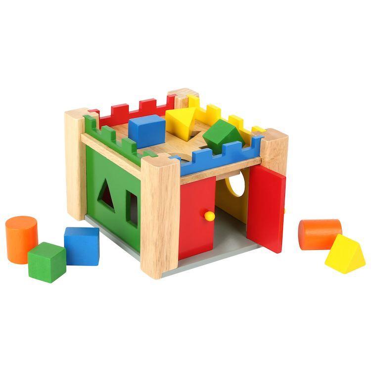 Castello incantato delle forme gioco in legno dadi da infilare