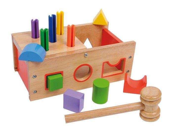 Cassetto da battere e incastro Gioco didattico per bambini in legno