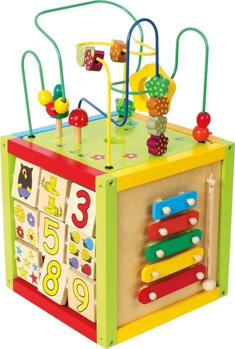 Cubo/Dado didattico in legno gioco per bambini Legler 4620