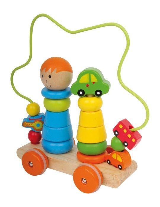Macchina motricità ad incastro in in legno Gioco per bambini