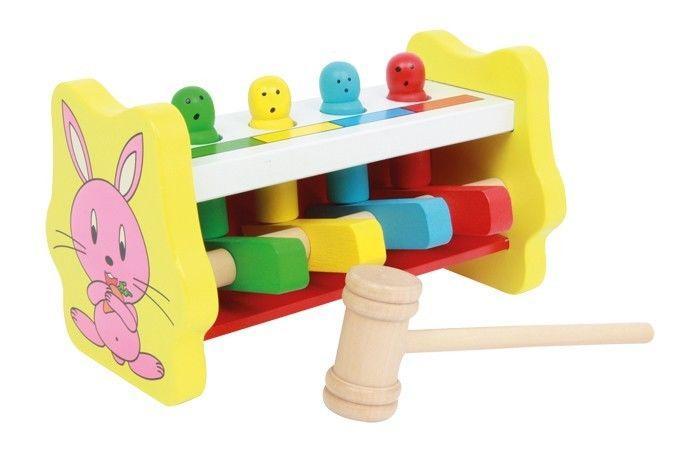 Martello/martelletto x riconoscee i colori in legno Gioco per bambini