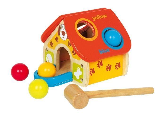 Casa/casetta multifunzionale con martello,palline Gioco bambini,legno