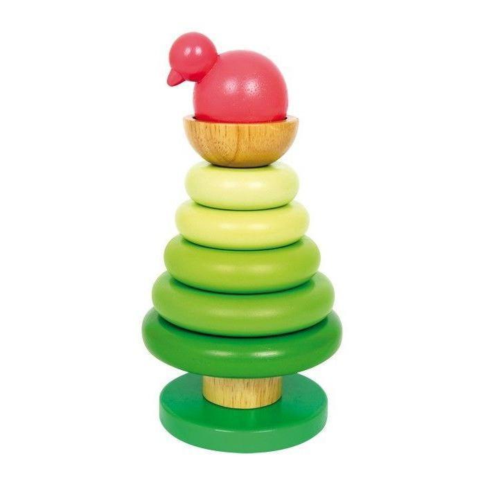 Albero da incastro Pulcino con anelli Gioco per bambini in legno