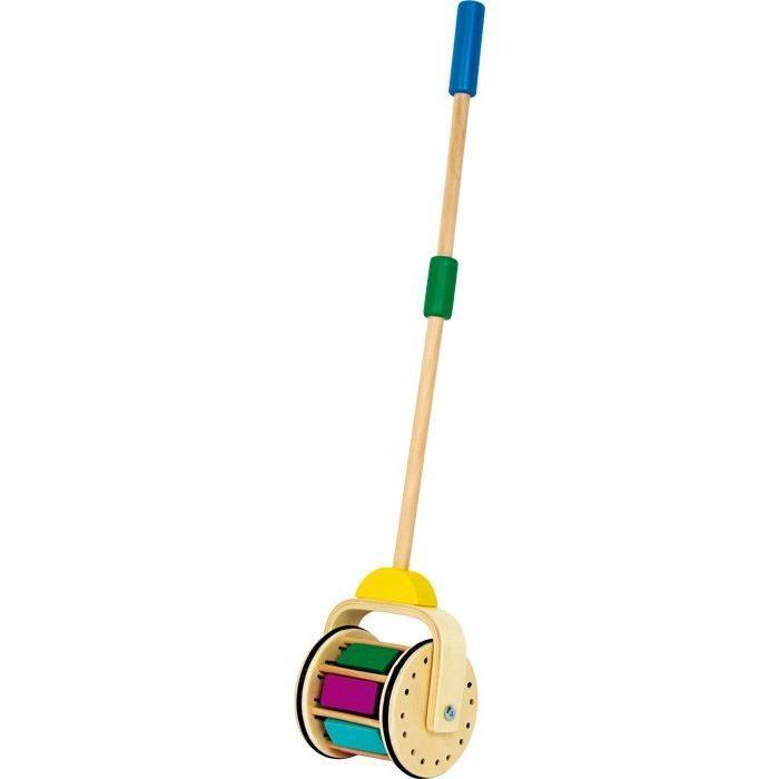 Tamburo da spingere in legno strumento musicale Gioco x bambini
