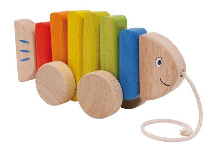 Pesce colorato da traino in legno giocattolo bambini