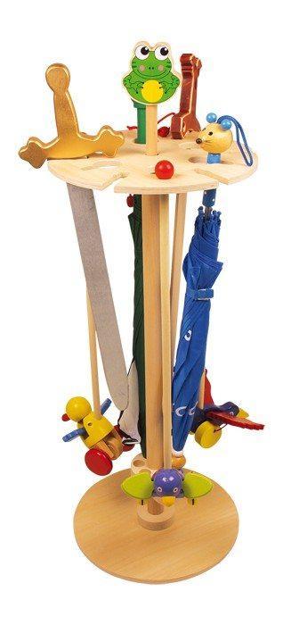 Espositore porta ombrelli, portaoggetti in legno naturale,decorazione arredo casa