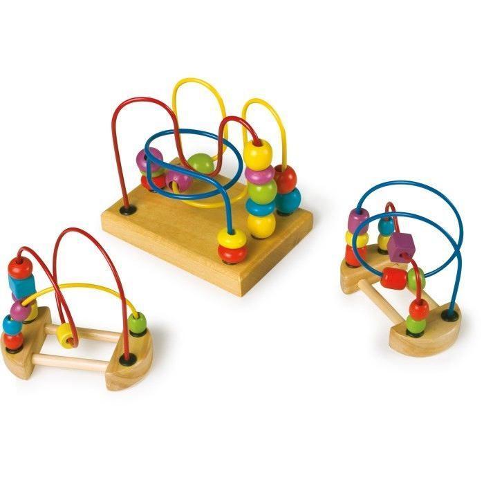 Gioco attività in legno naturale Set da 3.Aiuto logica e motricità x bambini
