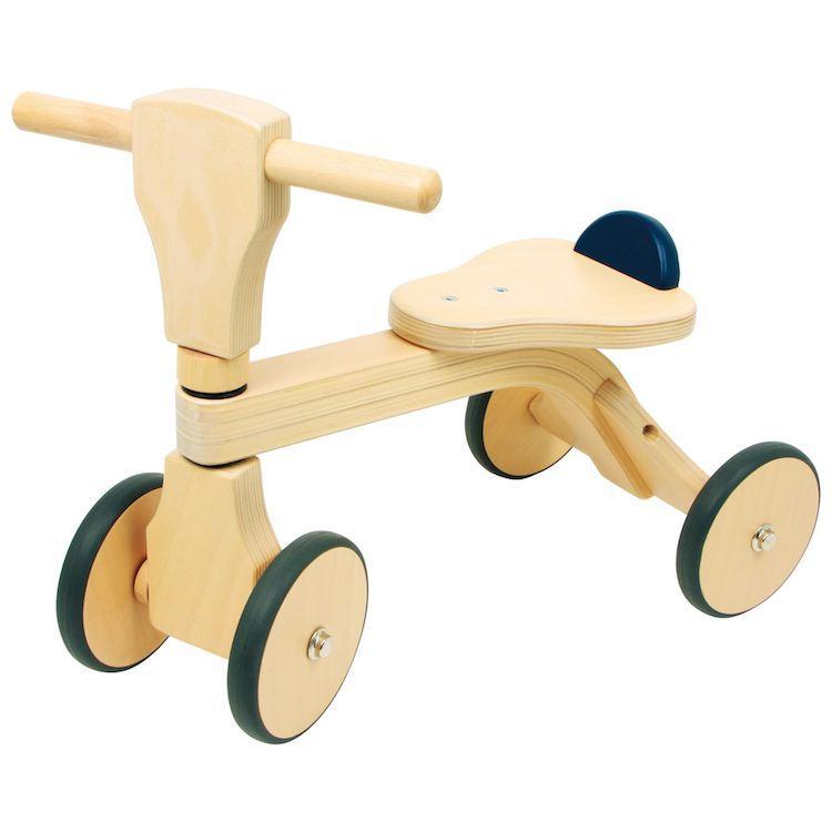 Bicicletta quadriciclo in legno di faggio giocattolo per bambini