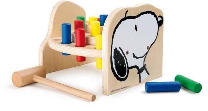 banco con martello da battere in legno Snoopy Peanuts & Co giocattolo bambini