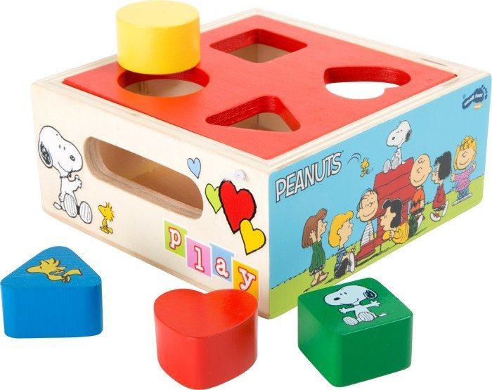Dado forme da incastrare in legno gioco Snoopy Peanuts & Co x bambini