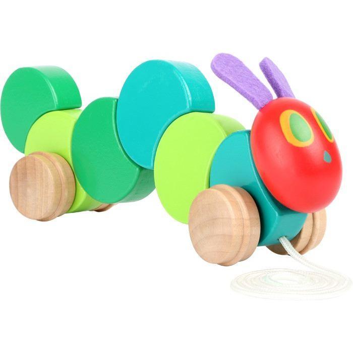 Bruco Maisazio gioco da tirare in legno per bambini