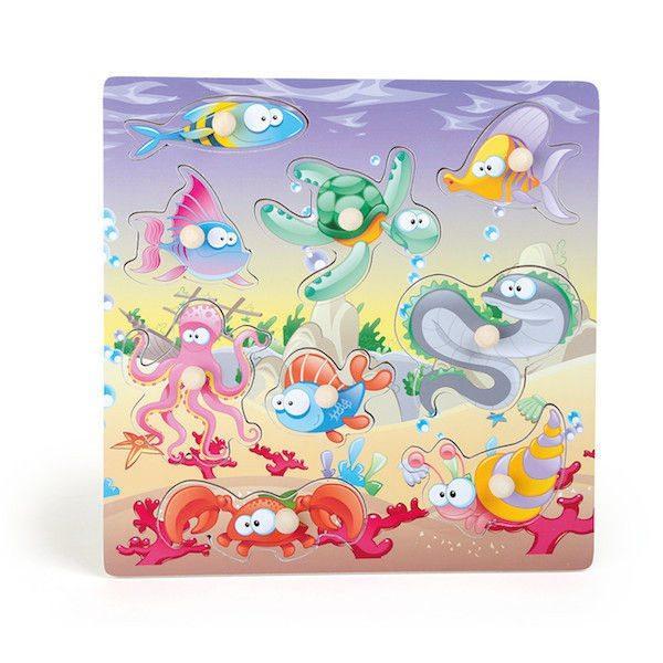 Puzzle mondo subacqueo Gioco motricità Legler 10190