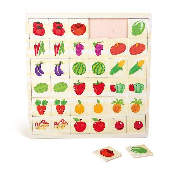 Memo Puzzle in legno Frutta e verdura Legler 10194