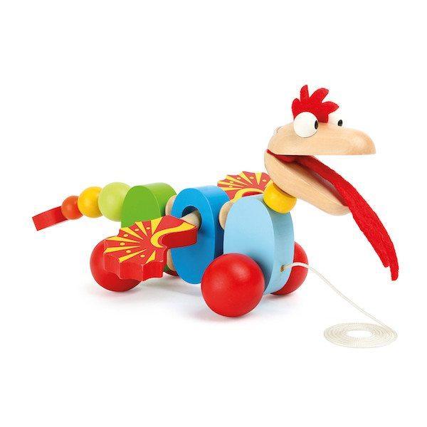 Drago da tirare gioco trainabile per bambini Legler 10231