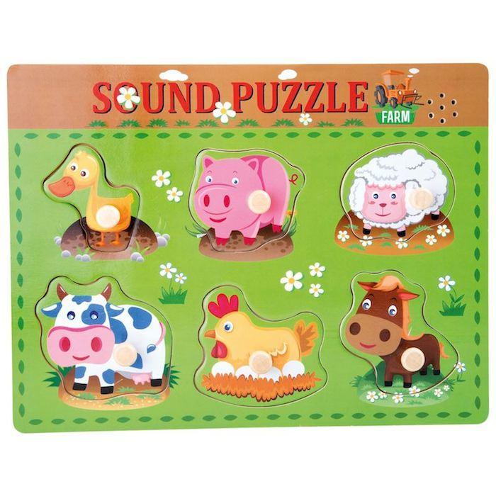 Puzzle con versi di animali Gioco per bambini Legler 10330