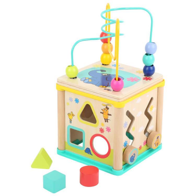 Cubo Dado didattico motricità in legno gioco per bambini Die Maus