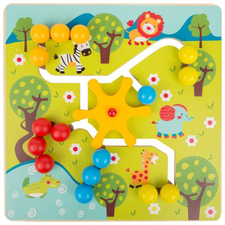 Puzzle in legno da trainare Savana gioco bambini Legler 10728