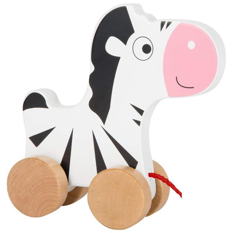 Zebra da trainare Gioco in legno per bambini