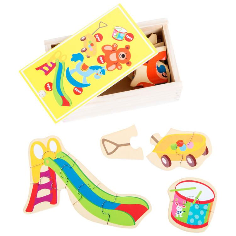 Il mio gioco preferito Puzzle in scatola gioco in legno per bambini