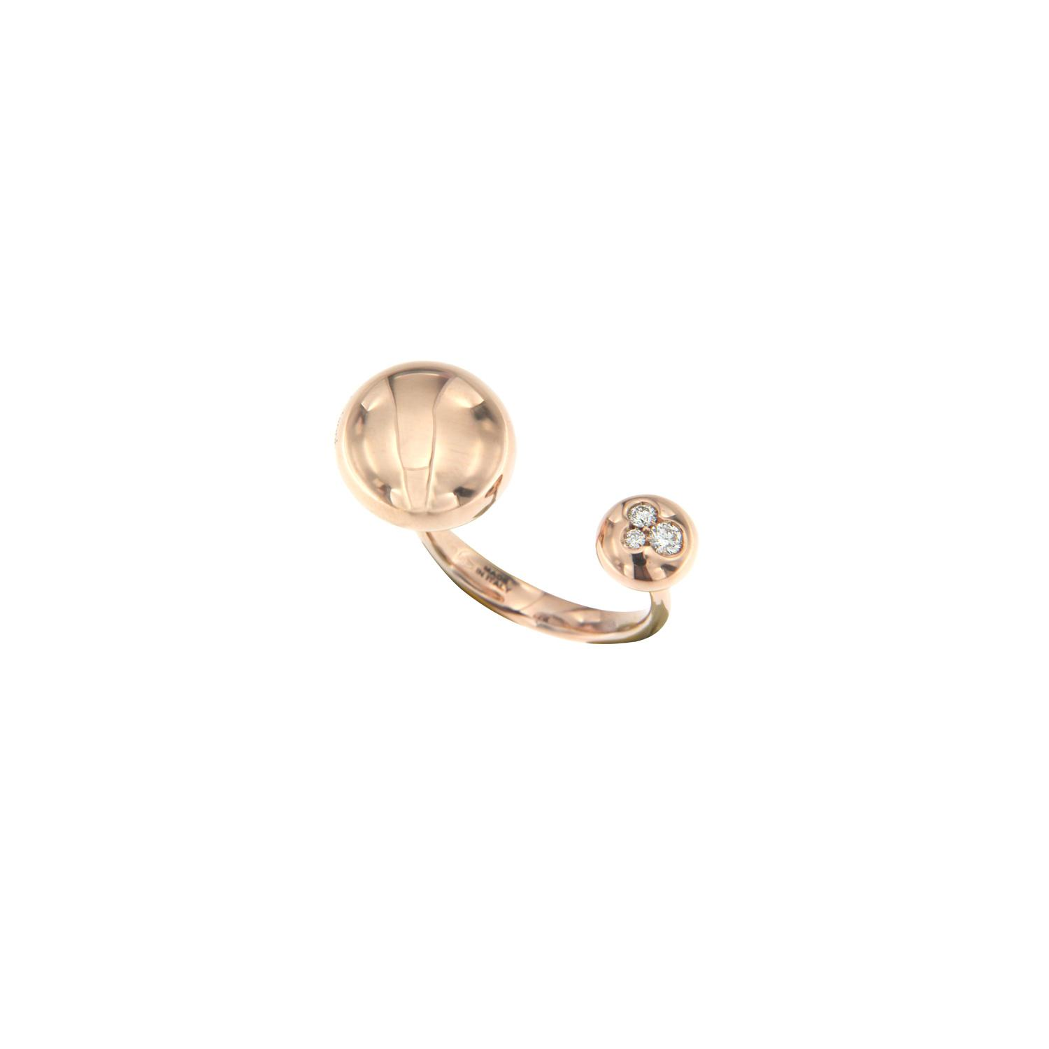 Anello borchie in oro rosa e diamanti