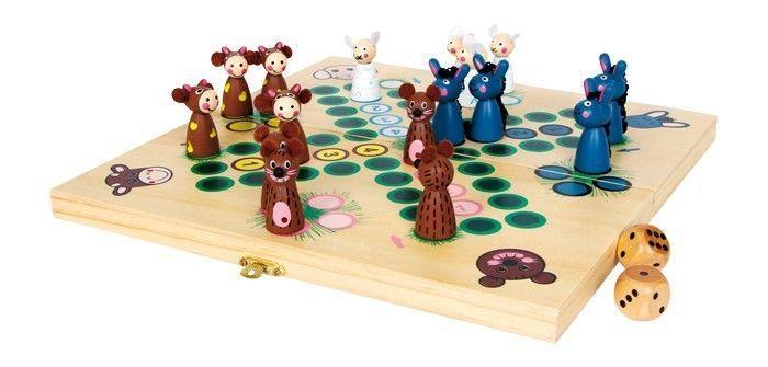 Ludo con pecore ed asini gioco classico di società in legno