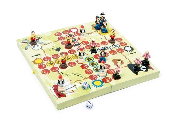Ludo Banda dei pirati gioco classico di società da tavolo in legno