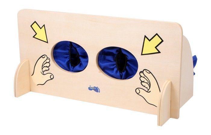 Muro tattile gioco in legno x scoprire i sensi per bambini