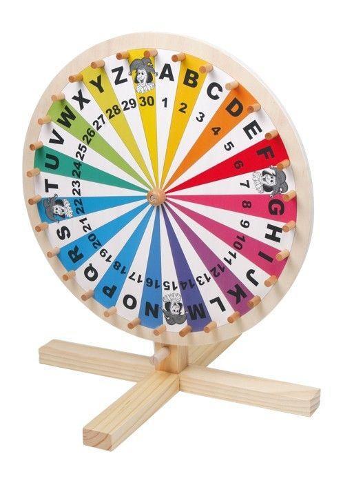 Ruota della fortuna in legno gioco di società per bambini
