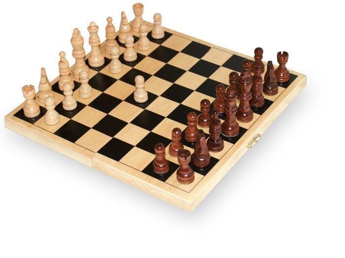 Scacchi in legno gioco di società per tutte le età