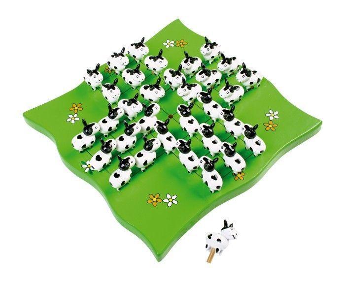 Solitario Mucche in legno gioco da tavolo per bambini