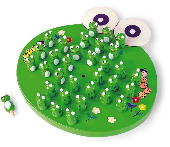 Solitario rana in legno gioco di strategia e memoria per bambini