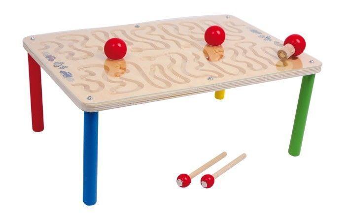 Labirinto tavolo da gioco con percorso magnetico in legno