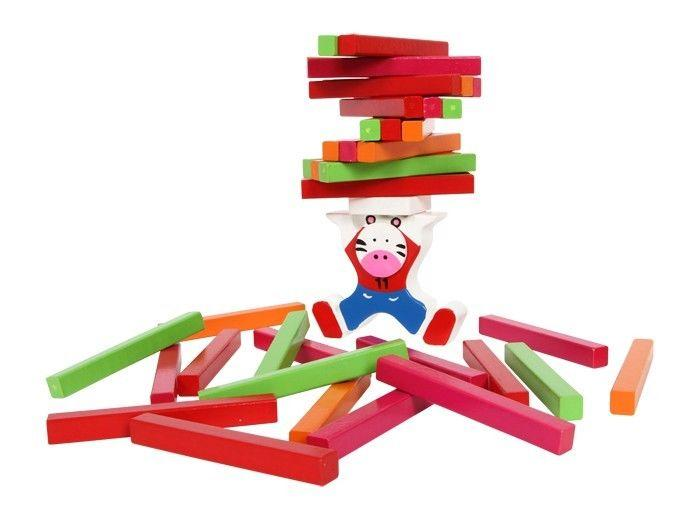 Torre costruzione zebra gioco didattico bambini in legno