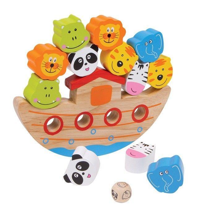 arca de equilibrismo gioco da tavola legno aiuto motricità e pazienza