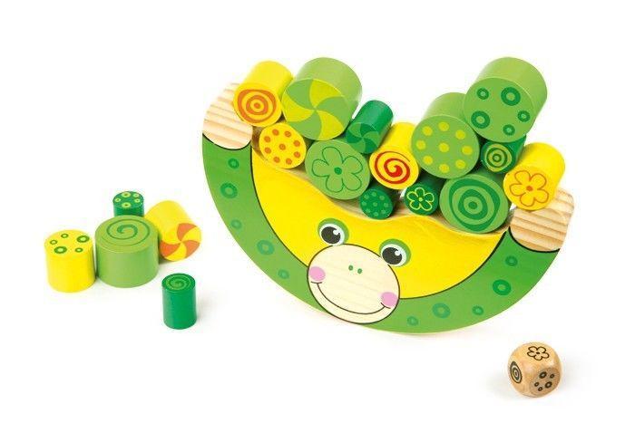 ranocchia equlibrista gioco legno per bambini motricità
