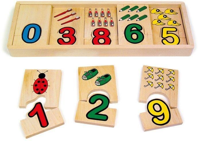 Puzzle assegnazione numeri in legno,regalo,gioco bambini