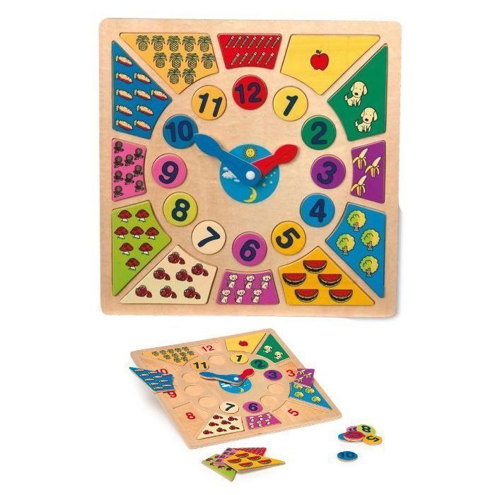 Puzzle/Orologio educativo Impara Ora gioco per bambini in legno