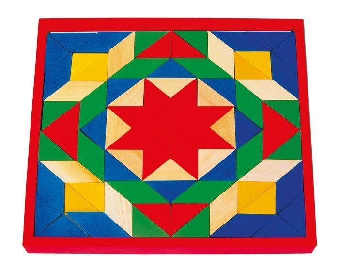 puzzle mosaico 80 pezzi colorati in legno gioco bambini