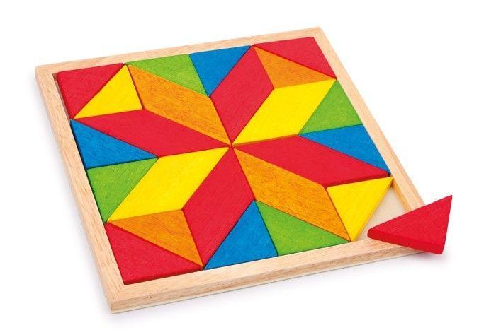 puzzle mosaico Stella colorato in legno gioco bambini