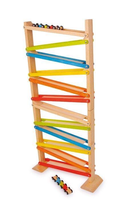 Pista torre a cascata Click Clack gioco in legno per bambini