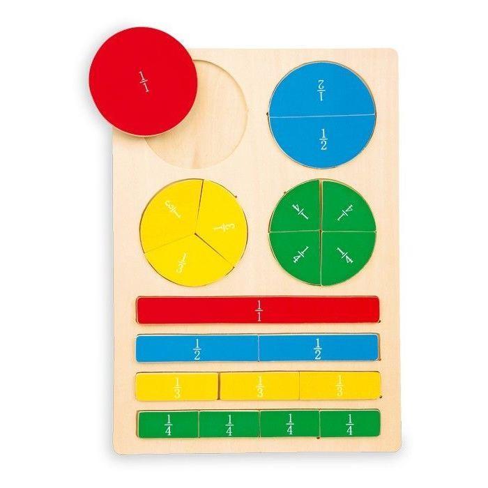 Puzzle in legno Maestro dei conti x imparare frazioni gioco per bambini