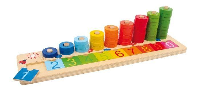 Tabella di calcolo in legno x imparare matematica gioco per bambini