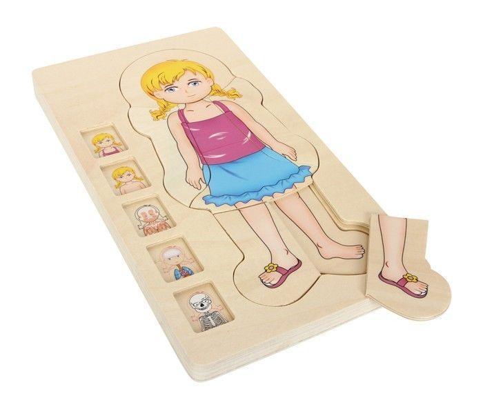 Puzzle anatomia corpo umano in legno gioco per bambini