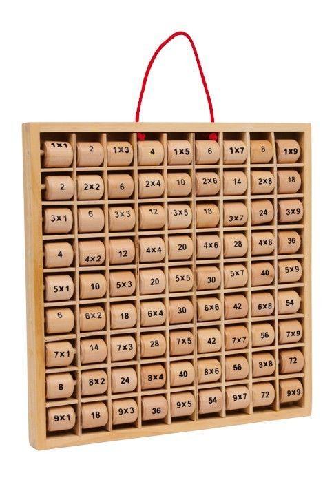 Tabellina calcolatrice moltiplicazioni gioco didattico in legno